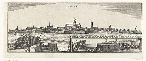 Profiel van Hulst, belegerd door Frederik Hendrik in 1645, RP-P-OB-81.576B