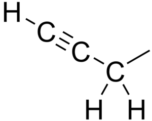 Propargyl - Chemical structure of the propargyl group.