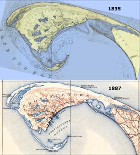 Cartes de Provincetown, 1835 et 1889.