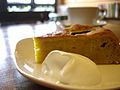 Pumpkin pie at a restaurant in Tokyo, November 2006.jpg