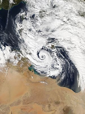 Cyclone Qendresa - Qendresa approaching Malta on 7 November