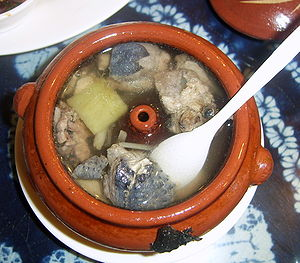 Traditional Chinese soup made with Silkie