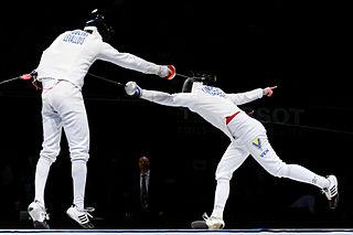 Flèche (fencing) fencing technique