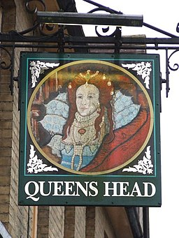 Queens head sign - geograph.org.uk - 656186
