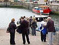Queueing to board a tourist boat at Seahouses - geograph.org.uk - 1378021.jpg