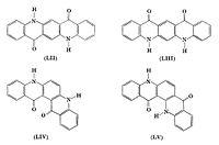 De fire kinakridonisomererna