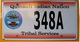 Vehicle registration plates of Native American tribes in the United States - Quinault Nation license plate