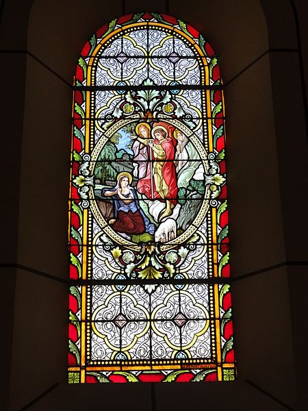 Réclonville (M-et-M) église, vitrail