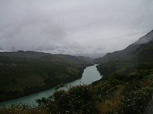 Baker River (Chile) - Image: Río Baker, sector Balsa Baker