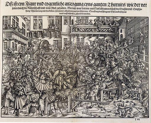 Rüxner Turnierbuch 2 A 1532 Holzschnitt