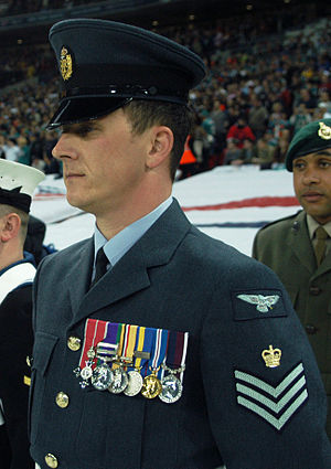 Uniforms of the Royal Air Force - A flight sergeant in RAF service dress