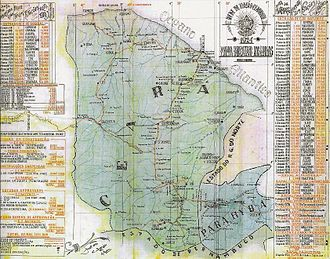 Map of Ceara State in 1924, (Portuguese edition) RVC Mapa 1924.jpg