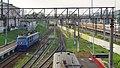 RZD ChS6-010 going from Leningradskoe direction to Moskva-Kurskaya at evening. Rizskaya. (25725044821).jpg