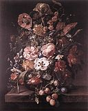Rachel Ruysch - Bouquet in a Glass Vase - WGA20552.jpg