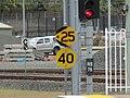 Railway speed signs at Roma St QLD.jpg