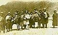 Rakra Trulku (left) being taken to Pakshoe monastery. His older brother Sonam Tomjor is on the right.jpg