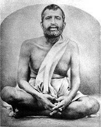 Obraz siedzącego Ramakryszny.