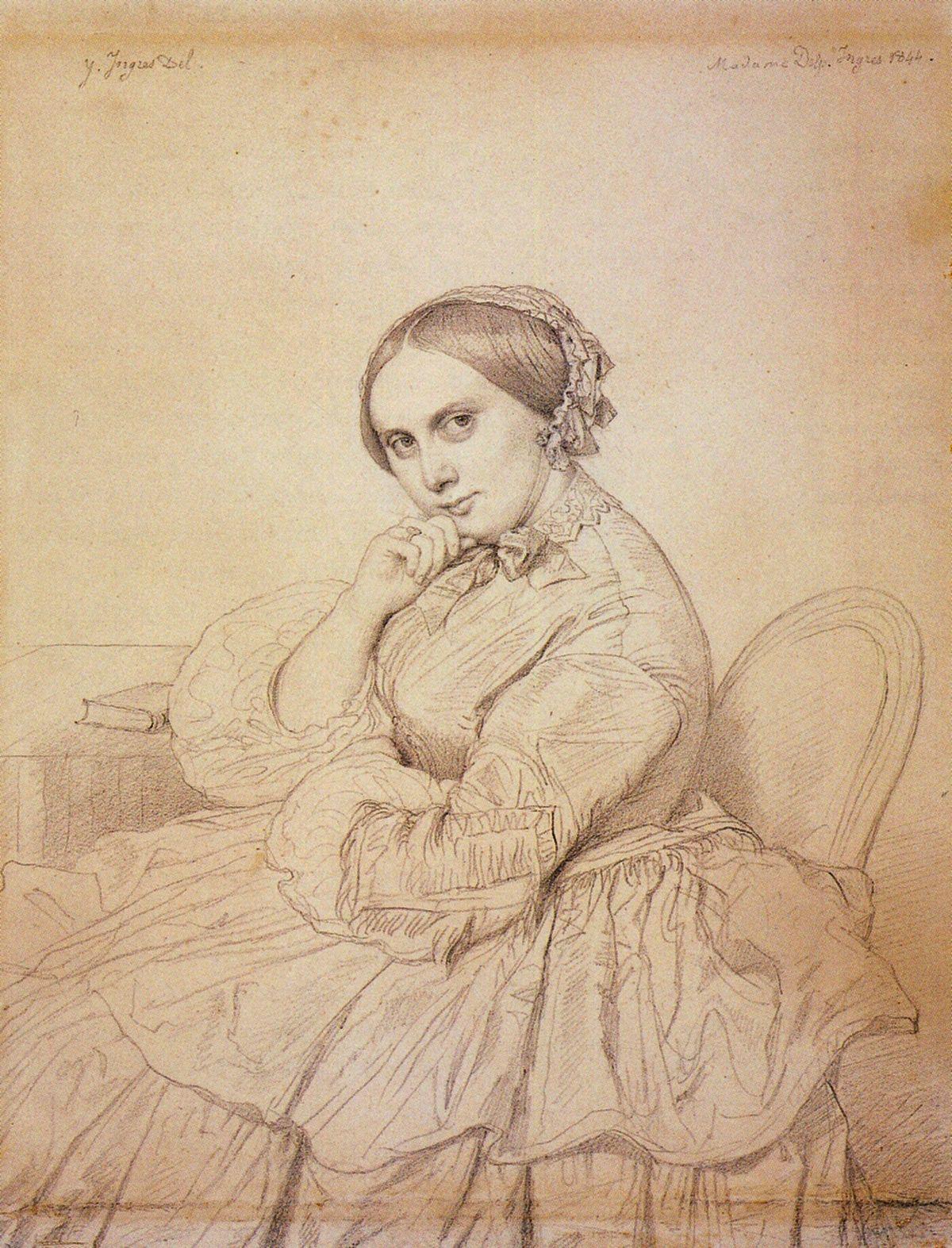 Portrait de Madame Panckoucke de Jean Auguste Dominique