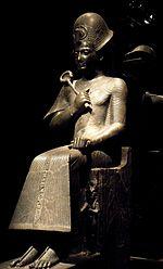Statue de Ramsès II coiffé du khepresh - Musée égyptien de Turin