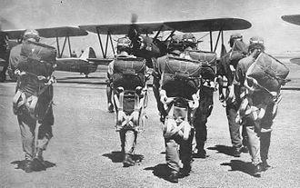 Rankin Field - Image: Rankin Field Flight Cadets with PT 17s