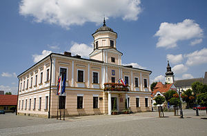 Tuchów - Image: Ratusz na tuchowskim Rynku