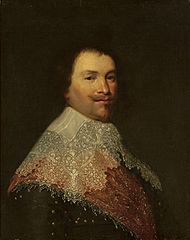 Portrait of a man in a lace collar.