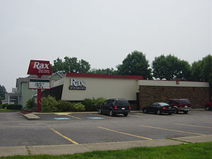 Rax Roast Beef - An older Rax still in operation in Lancaster, Ohio. Originally a franchise, it is now a company-owned store.