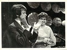Columbus (left) on television in the early 1970s