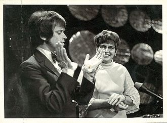 Ray Columbus - Columbus (left) on television in the early 1970s