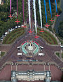 Red Arrows fly in their famous formation over Buckingham Palace, 2012.jpg