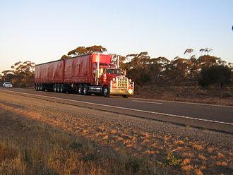 Sturt Highway - B-double truck on the Sturt Highway
