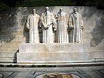Le Monument international de la Réformation à Genève.