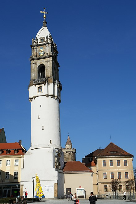 The leaning Reichenturm