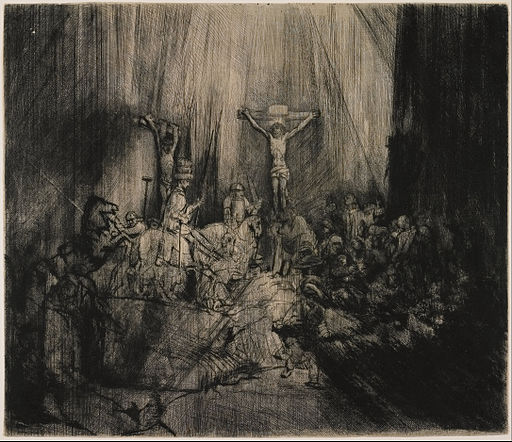 Rembrandt van Rijn - The Three Crosses - Google Art Project (ZQHF2yvTS wang)