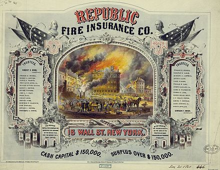 Certificate issued by Republic Fire Insurance Co. of New York c. 1860 Republic Fire Insurance Company certificate.jpg
