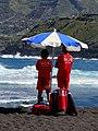 Rettungsschwimmer an der Playa Martianez, Teneriffa.jpg