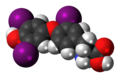 Reverse triiodothyronine 3D spacefill.png