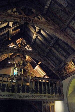 Rhug - Rhug Chapel. part of remarkable interior