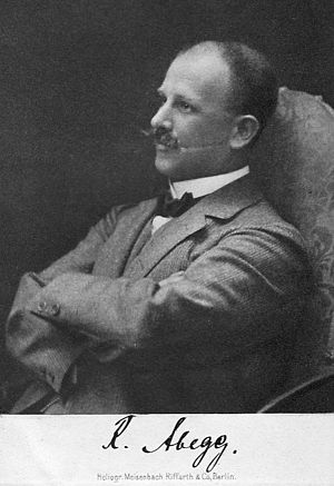 Richard Abegg - Richard Wilhelm Heinrich Abegg (1869–1910)
