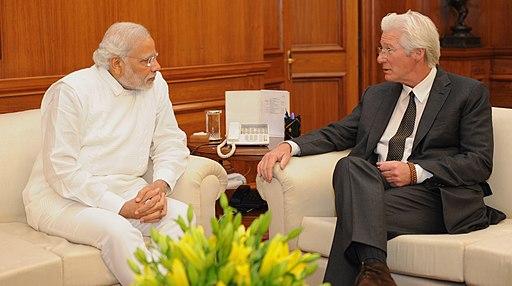 Richard Gere with PM Modi