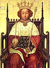 Portrait of Richard II in Westminster Abbey, London