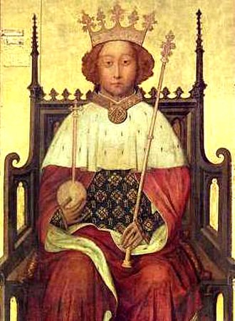 Richard II (play) - Portrait Richard II of England, mid 1390s (Westminster Abbey)