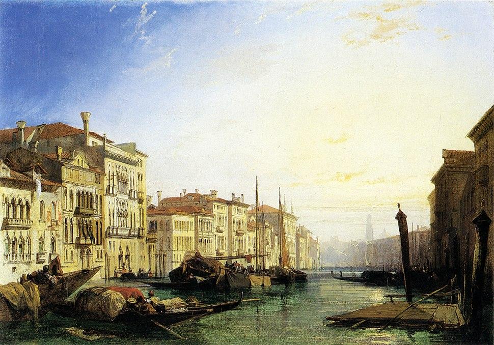 Richard Parkes Bonington Venice Grand Canal