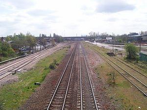 Erewash Valley line - The Erewash Valley line at Stapleford