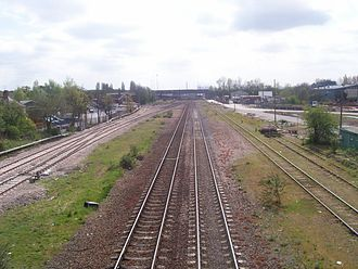 Erewash Valley line - The Erewash Valley line at Stapleford