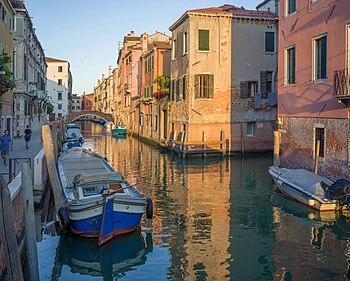 Rio de Santa Caterina and Ponte dei Gesuiti bridge in Venice.