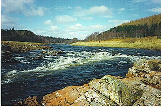 River Dee, Aberdeenshire - The River Dee at Potarch, between Aboyne and Banchory.