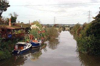 River Rother, East Sussex - The river above Iden Lock, the junction with the Royal Military Canal