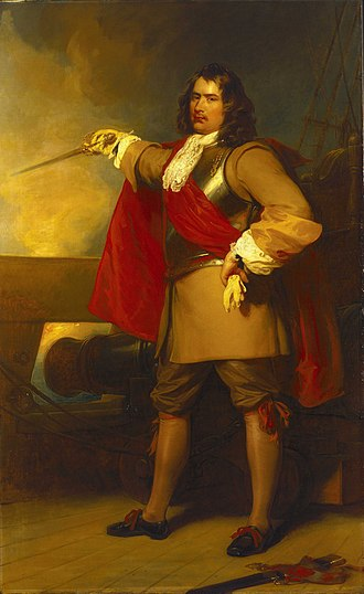 Battle of Portland - Robert Blake, General at Sea, 1599–1657 by Henry Perronet Briggs, painted 1829.