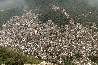 Rocinha Neighbourhood in Rio de Janeiro, Rio de Janeiro, Brazil